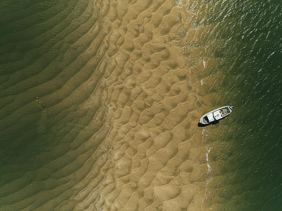 pinasse banc de sable vue aerienne