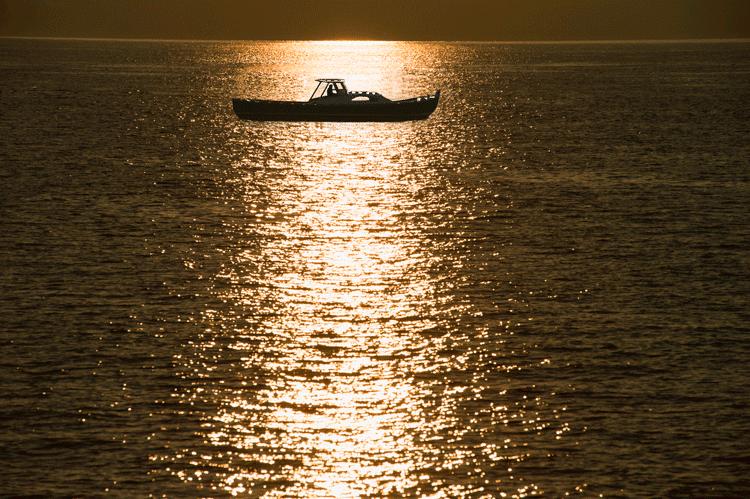 coucher de soleil pinasse bassin arcachon